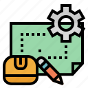 ruler, industry, engineering, construction, plan, engineer icon