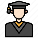 avatar, boy, education, graduated, graduation, student, university