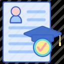 academic, document, record icon