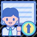 coursework, presentation, board icon