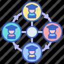 alumni, connection, network icon