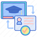 education, class, school, registration icon