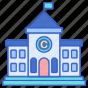 building, college, university icon