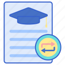 course, education, transfer icon