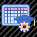 courses, curriculum, schedule icon