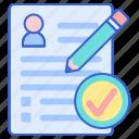 enrollment, form, register icon