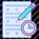 exam, examination, test icon