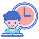 full, student, time icon