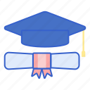 certificate, graduate, mortar