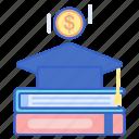education, fund, loan, scholarship icon
