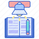 education, homework, study icon
