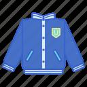 clothes, jacket, varsity icon