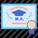 award, certificate, degree, master
