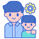 apprentice, mentor, people icon
