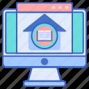 ebook, internet, library, online icon