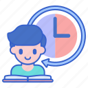 part, student, time icon