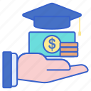 fund, money, scholarship icon