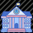 building, campus, college, university icon