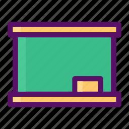 blackboard, board, eraser, teach, write icon