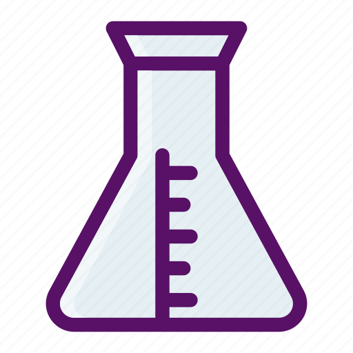 biology, chemistry, flask, laboratory, learn icon