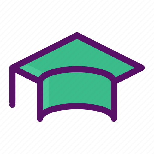board, graduation, mortar, pupil, student icon