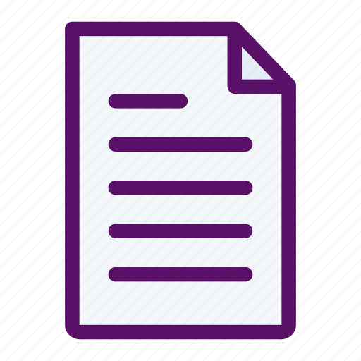 document, file, message, note, paper icon