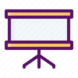 board, meeting, presentation, report, screen icon