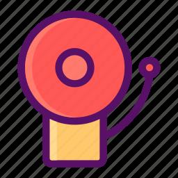 bell, notification, ringing, sound, warning icon