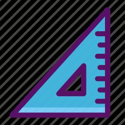 angle, math, measure, ruler, triangle icon