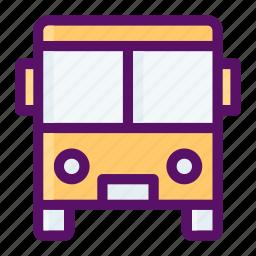 bus, driver, learn, passenger, school icon