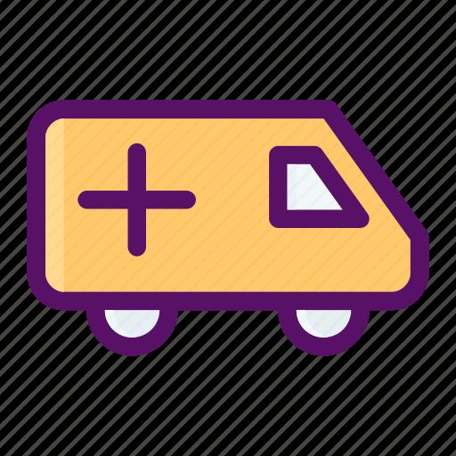 ambulance, care, medical, response, unit icon