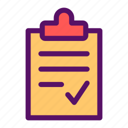 clipboard, document, organize, paper, sheet icon