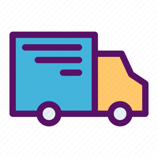 delivery, mail, order, package, truck icon