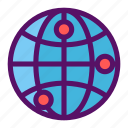 boundary, globe, location, map, world icon
