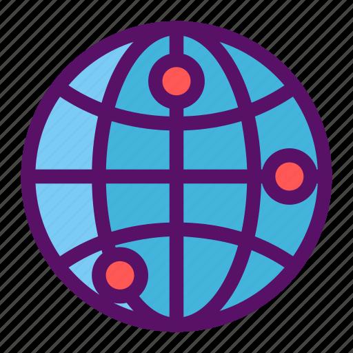 boundary, globe, location, map, world icon