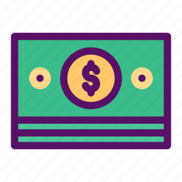 cheque, money, note, payment, stack icon