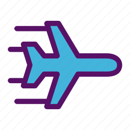 delivery, logistic, pilot, plane, shipping icon