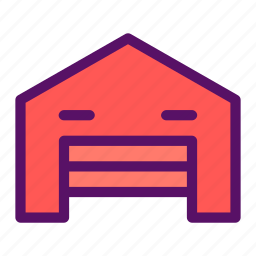 barn, facility, room, storage, warehouse icon
