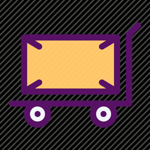 hand, luggage, trolley, truck, wheels icon