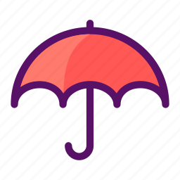prevent, protection, rainy, shade, umbrella icon