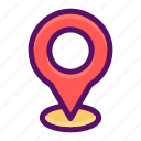 address, gps, location, navigation, pointer icon