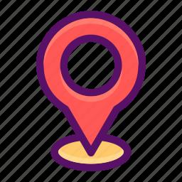 address, gps, location, navigation, pointer icon