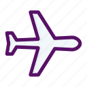 plane, tourism, transport, transportation, vacation icon