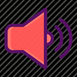 audio, multimedia, music, play, speaker icon