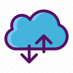 cloud, data, download, transfer, upload icon