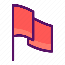 flag, goal, label, post, warning icon
