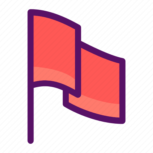 flag, goal, label, post, warning icon