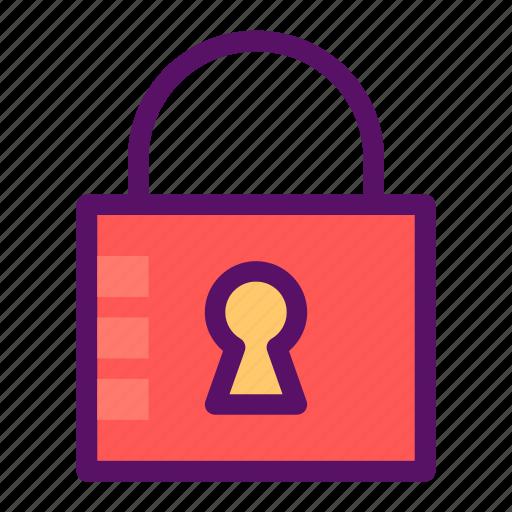 access, key, lock, padlock, secure icon