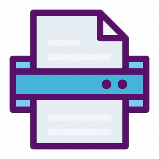 Document, file, paper, printer, scanner icon - Download on Iconfinder