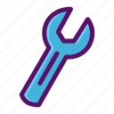configure, edit, service, setting, wrench icon